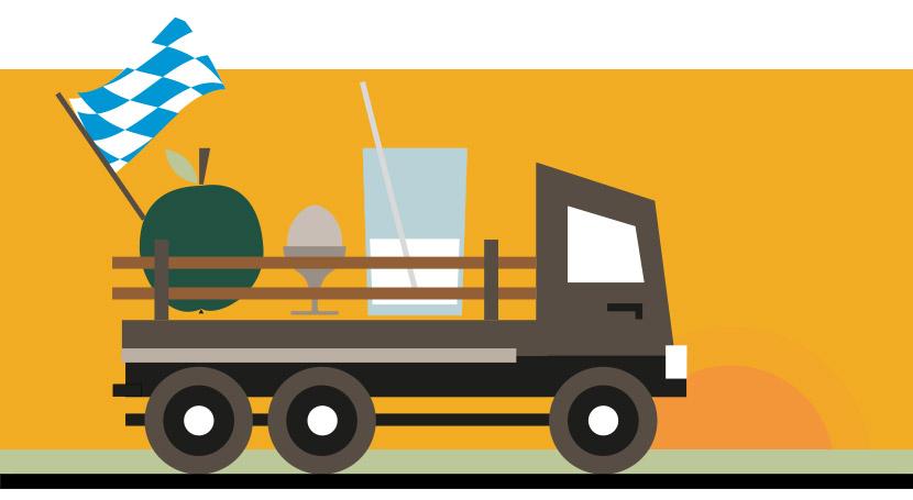 Regionale Produkte sparen CO2 durch kurze Transportwege