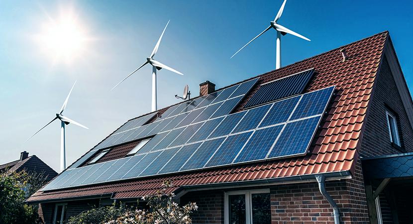 Energieversorung net zero Häuser