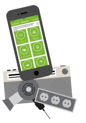 Eschrott: Smartphone App