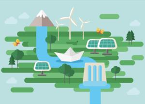 Klimaschutz mit Strom: Mit Ökostrom gegen den Klimawandel.