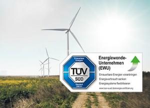 ENTEGA erhält TÜV SÜD Siegel als Wegbereiter der Energiewende.