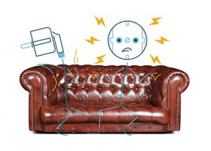 Heute beim Paartherapeuten: Wenn die Strom-Nachzahlung zu Verstimmungen führt.