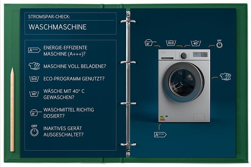 Stromspar-Check Waschmaschine