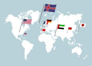 Durchschnittlicher Stromverbrauch und Energieverbrauch weltweit.